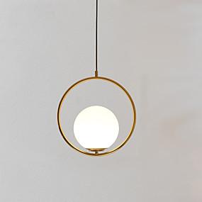 povoljno Viseća rasvjeta-Cirkularno Privjesak Svjetla Ambient Light Golden Metal Glass Prilagodljiv 110-120V / 220-240V Meleg fehér / Hladno bijela