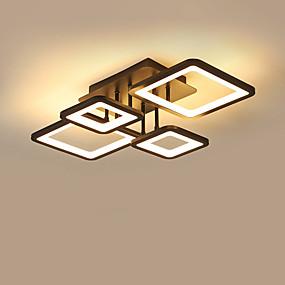 cheap Ceiling Lights & Fans-CONTRACTED LED® 4-Light 42 cm Flush Mount Lights Aluminum Acrylic Island / Geometrical Painted Finishes LED / Modern 110-120V / 220-240V
