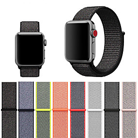 cheap Smartwatch Accessories-Strap For Apple Watch 4/3/2/1 Woven Nylon Loopback Soft Breathable Replacement Velcro Sports Watch Strap for iwatch 40MM 44MM 42MM 38MM