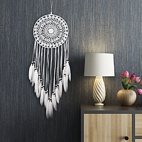 cheap Dreamcatcher-Dreamcatcher - Feather Bohemia 1 pcs Wall Decorations