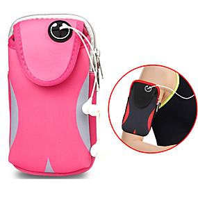 povoljno Maske za mobitele-torba struka muške i ženske putovanja dvostruki sportski vodootporni podesivi putne torbe džepovi 6 inča