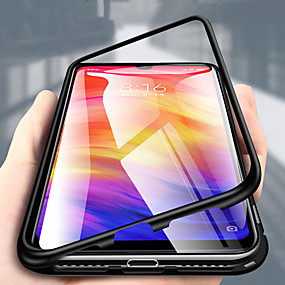 cheap Samsung Case-Single-sided Magnetic Phone Case for Samsung Galaxy Note 10 Note 10 Plus Shockproof Magnetic Full Body Cases Solid Colored Tempered Glass Metal Note 9 Note 8