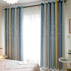 preiswerte Verdunkelungsvorhänge-Europäisch Verdunkelung Ein Panel Vorhang und Gardine Wohnzimmer   Curtains
