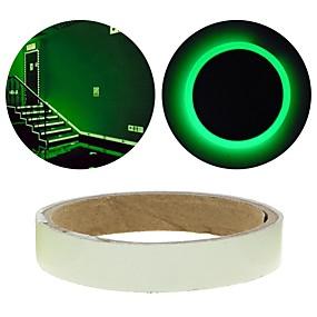 preiswerte Wandsticker-grüne Fluoreszenz Aufkleber Nachtlichtbandstreifen Abziehbild Dekoration für Treppen Tür Motorrad Auto Leuchtband reflektierend