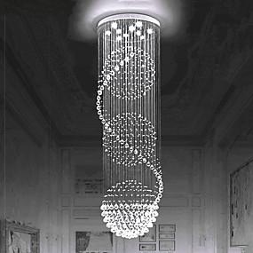 povoljno Lámpatestek-europski kristalni luster stubište kristalno svjetlo rotacijsko stubište lampa dvostruko stubište lampa dnevna soba svjetiljka