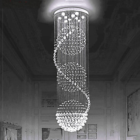 preiswerte Top Seller-Europäische Kristall Kronleuchter Treppe Kristall Lampe Wendeltreppe Lampe Doppeltreppe Lampe Wohnzimmer Lampe