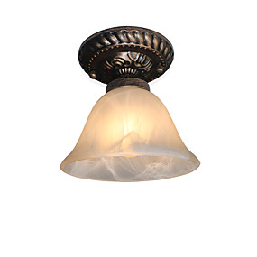 cheap Ceiling Lights & Fans-1-Light 16 cm Mini Style Flush Mount Lights Metal Glass Painted Finishes Traditional / Classic 110-120V / 220-240V / E26 / E27