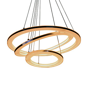povoljno Viseća rasvjeta-UMEI™ Cirkularno Privjesak Svjetla Ambient Light Silver Acrylic Acrylic LED 110-120V / 220-240V Meleg fehér / Bijela / Wi-Fi Smart