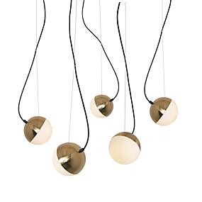povoljno Lámpatestek-5 svjetiljke svjetlo privjesak svjetlo / staklo svjetiljka DIY za dnevnu sobu blagovaonica trgovina soba kafić zlatno galvansko / 110-120v / 220-240v / e12 / e14 bez žarulja / a / b model dostupan