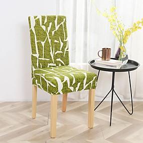 preiswerte Pantoffeln-Stuhlabdeckung Blumen Bedruckt Polyester Überzüge