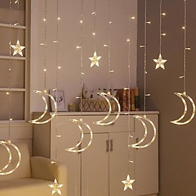 preiswerte LED-Lichter-brelong 8 Funktionssternlichtschnur im Freien imprägniern dekoratives Vorhanglicht 3.5m 12led