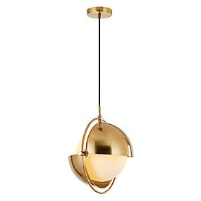 povoljno Viseća rasvjeta-Cirkularno Lusteri Ambient Light Antique Brass Electroplated Metal Prilagodljiv 110-120V / 220-240V / FCC