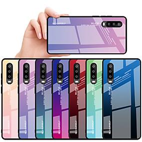 preiswerte Telefone & Zubehör-Hülle Für Huawei Huawei P30 / Huawei P30 Pro / Huawei P30 Lite Stoßresistent / Wasserdicht Rückseite Himmel / Farbverläufe Hart TPU / Gehärtetes Glas / PC
