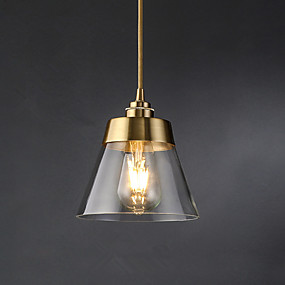 cheap Mini-Style Pendant Lights-Cone Pendant Light Ambient Light Electroplated Glass Glass 110-120V / 220-240V