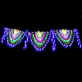 cheap Novelty Lights-4m String Lights 420 LEDs RGB+White Waterproof / Creative / Party 220-240 V 1 set