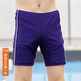 cheap Surfing, Swimming & Diving-Boys' Swim Shorts Swim Trunks Bottoms UV Sun Protection Quick Dry Swimming Patchwork Autumn / Fall Summer / High Elasticity / Kid's