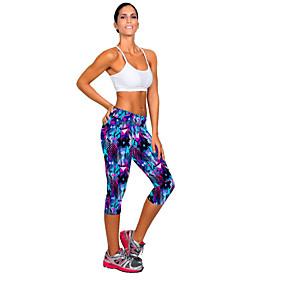 cheap Yoga & Fitness-Women's Yoga Pants Capri Leggings Moisture Wicking Fitness Running Sports Activewear Stretchy Skinny