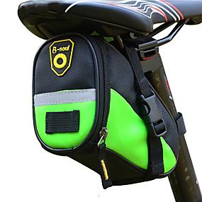 preiswerte Fahrradsatteltaschen-B-SOUL 1 L Fahrrad-Sattel-Beutel Wasserdicht Tragbar Langlebig Fahrradtasche Leder Terylen Tasche für das Rad Fahrradtasche Radsport Rennrad Geländerad Draußen