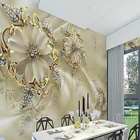 preiswerte 9. Jubiläums - Angebote-Tapete / Wandgemälde / Wandtuch Segeltuch Wandverkleidung - Klebstoff erforderlich Art Deco / Muster / 3D