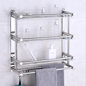 billige Baderomshyller-baderomshylle premium design / kul moderne rustfritt stål 1 stk veggmontert