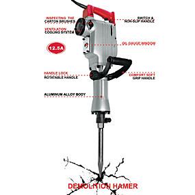 preiswerte Elektrowerkzeuge-Elektrischer Abbruchhammer toolman für schwere Arbeiten 12.5a mit Spitzenflachschaufel