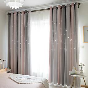 billige Barnegardiner-Moderne Blackout Et panel Curtain & Sheer Soverom   Curtains