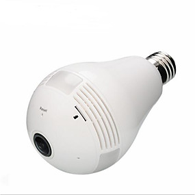 cheap Indoor IP Network Cameras-1080P V380S Bulb Camera Wifi Wireless Smart Phone Remote 360 Degree Vrcam Panoramic HD Monitor