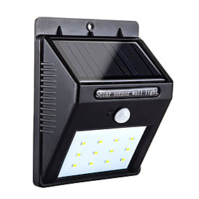 preiswerte LED Solarleuchten-1pc 4 W Solar-Wandleuchte Bewegungserkennungsmonitor Kühles Weiß 3.7 V Außenbeleuchtung / Hof / Garten 12 LED-Perlen
