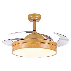 cheap Ceiling Fan Lights-1-Light QINGMING® 108 cm LED / Tri-color Ceiling Fan Metal Mini Painted Finishes LED / Modern 110-120V / 220-240V
