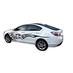 cheap Automotive Exterior Accessories-3D Flame Totem Decals Car Stickers Full Body Car Styling Vinyl Decal Sticker for Cars Decoration