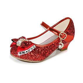 preiswerte Schuhe für Kinder-Mädchen Schuhe für das Blumenmädchen Kunststoff High Heels Kinder Schleife / Paillette Schwarz / Purpur / Gold Sommer / Party & Festivität / TPR (Thermoplastisches Gummi)