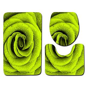 voordelige Matten & Tapijten-1 set Klassiek Badmatten 100g / m² Polyester Gebreid en Gestrekt Geometrisch / Nieuwigheid / Bloemenprint Creatief / Anti-slip