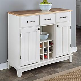 preiswerte Küchenschränke-naturholz kücheninsel sideboard schrank weinregal in weiß