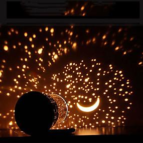 preiswerte Projektor-Lichter-1pc Kugel Sky-Projektorlicht Warmes Weiß AA-Batterien angetrieben Batterie