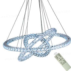 povoljno Lámpatestek-popularni dijamantni prsten vodio kristal privjesak svjetlo moderne vodio krugovi lusteri svjetiljke visi svjetiljka foyer blagovaonica rasvjeta uređenje doma 110-120v / 220-240v