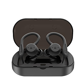 cheap Sports Headphones-LITBest BE1018 TWS Earbuds Sports Outdoor Fitness Swimming Earphones Wireless Bluetooth 5.0 Stereo with 2 Pairs of Shark Fin Pieces 1 Pair of Earhooks IPX7 Waterproof Touch Control