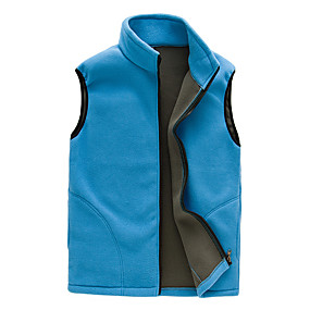 cheap Camping, Hiking & Backpacking-Women's Hiking Jacket Hiking Fleece Vest Winter Outdoor Solid Color Windproof Breathable Warm Comfortable Vest / Gilet Top Camping / Hiking Hunting Ski / Snowboard Black Purple Red Sky Blue Rose Red
