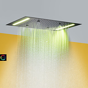 cheap Faucets-Contemporary Rain Shower Painted Finishes Feature - Rainfall / LED / Shower, Shower Head