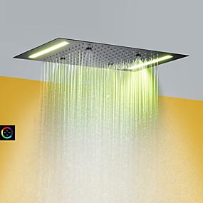 tanie Baterie i krany-Nowoczesny Deszczownica Malowane wykończenia Cecha - Opad deszczu / LED / Prysznic, Głowica prysznicowa