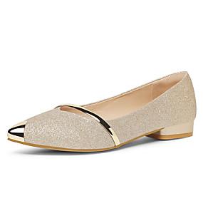 voordelige Damesschoenen met platte hak-Dames Platte schoenen Sexy Schoenen Platte hak Synthetisch Zoet / minimalisme Lente & Herfst / Zomer Goud / Zwart