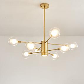 abordables Candelabros-8-luz 97 cm Mate / Creativo / Ajustable Lámparas Araña Metal Vidrio Sputnik / Esfera / Imperio Acabados Pintados Moderno / Artístico 110-120V / 220-240V