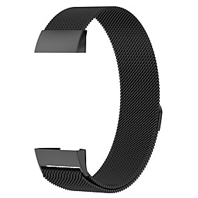 cheap Phones & Accessories-Watch Band for Fitbit Charge 3 Fitbit Milanese Loop Stainless Steel Wrist Strap