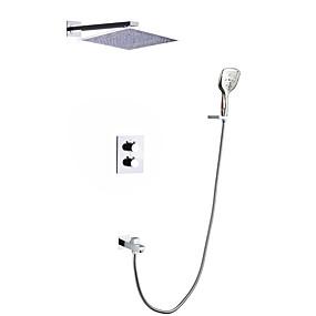 billige Nyheter-Dusjkran - Moderne Krom Vægmonteret Keramisk Ventil Bath Shower Mixer Taps