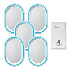 cheap Doorbell Systems-Wireless intelligent remote control doorbell Home self-powered elderly wireless pager One for five doorbells without battery