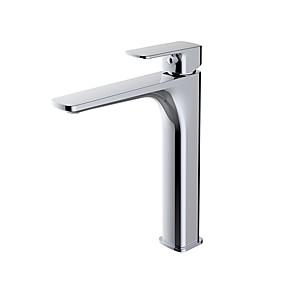 preiswerte Toppen Sie den Trend-Waschbecken Wasserhahn - Verbreitete Chrom Mittellage Einhand Ein LochBath Taps
