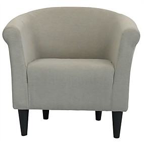 preiswerte Stühle-moderner klassischer Akzent Sessel taupe gepolsterter Clubsessel
