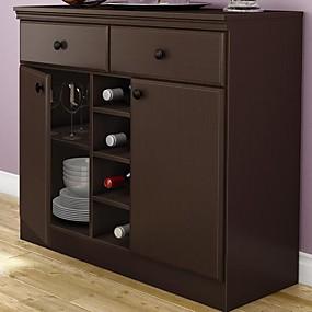 preiswerte Küchenschränke-Konsolentisch Sideboard mit Schubladen in Schokolade