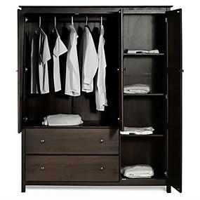 baratos Móveis-armário de madeira do armário do armário do vestuário do revestimento do quarto do café
