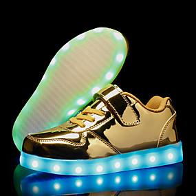 preiswerte Schuhe für Kinder-Jungen Leuchtende LED-Schuhe PU Sneakers Kleine Kinder (4-7 Jahre) / Große Kinder (ab 7 Jahren) Gold / Silber / Rosa Herbst / Gummi
