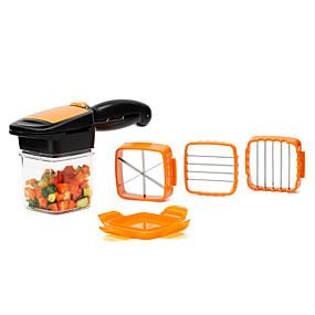 preiswerte Küche & Haushalt-Gemüseschneider, 5 in 1 Obstschneider Chopper Slicer Spalte Egg Cutter Crusher perfekt für die Küche Kochen Weihnachten Neujahr Dinner-Party